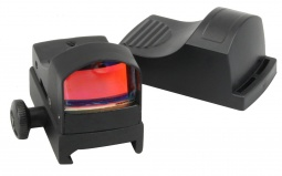 VISEUR REFLEX MINI POINT ROUGE  ROUGE  HD107 NOIR