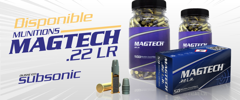 Munitions Magtech .22LR disponible
